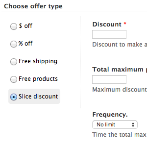 Preview module commerce discount slice