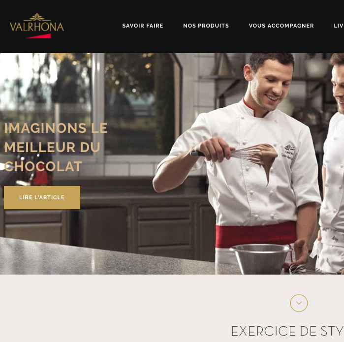 Capture Valrhona.com